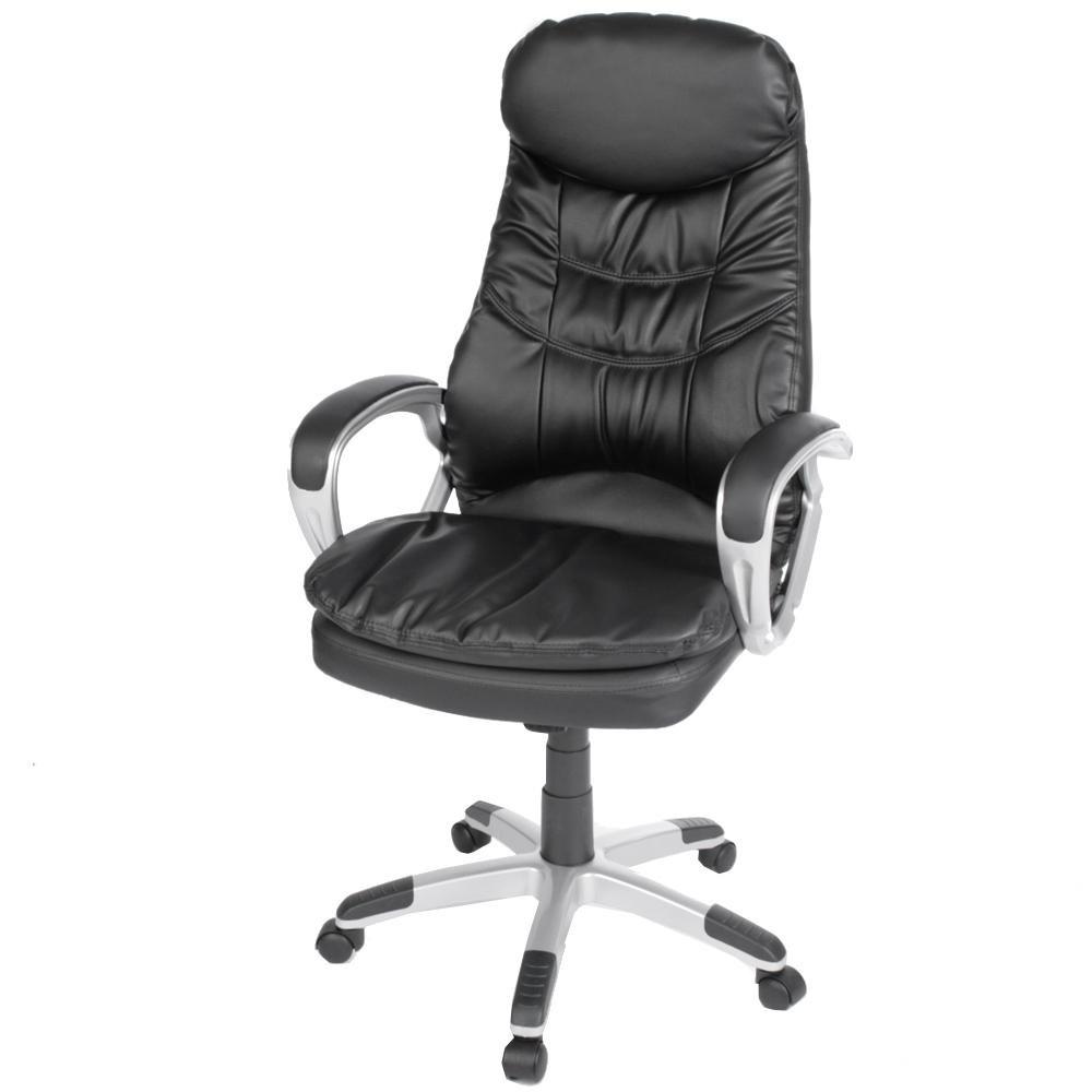 Chefsessel Bürostuhl Schreibtischstuhl Drehstuhl schwarz mit ergonomischem Sitzkomfort