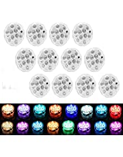 [8-Pack] Submersible LED Lights with Remote Control, APPEASTAR 16 Colors Changing Waterproof LED Tea Lights, Pool lamp Battery Operated Underwater Pond Lights for Aquarium Garden Wedding Party