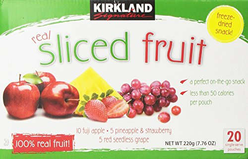 Kirkland Freeze Dried Fruit, 20 Count ( 220g - 7 76oz )