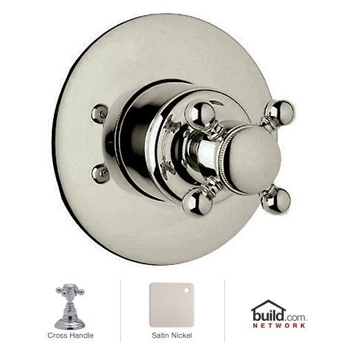 Rohl A2700XMSTNTO Country Bath 4-Port 3-Direction Diverter Trim Only with Metal C, Satin Nickel