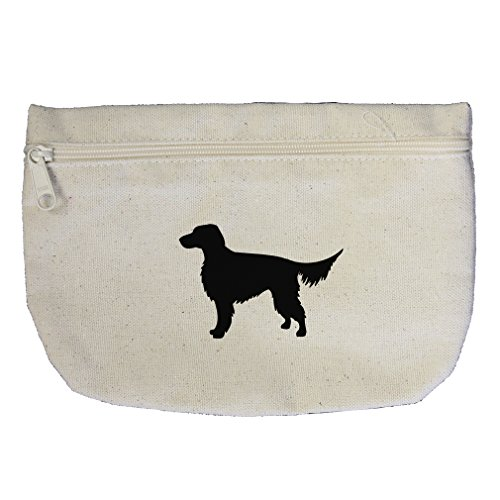 Canvas Pouch Zipper Makeup Bag Gordon Setter Silhouette By Style In Print