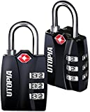 Utopia TSA Travel Lock ( 2 Pack) - 3 Digit Combination - Lightweight Zinc Alloy - Set Your Own Combination - by Utopia Home