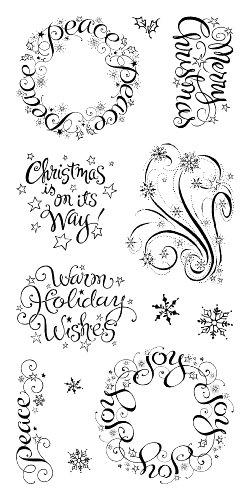 Inkadinkado Clear Stamp Holiday Wishes