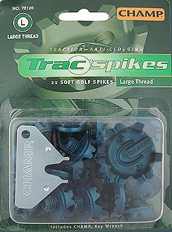 Thread Spikes - New Champ Golf Trac Spikes Blister Pack Large Thread 22ct