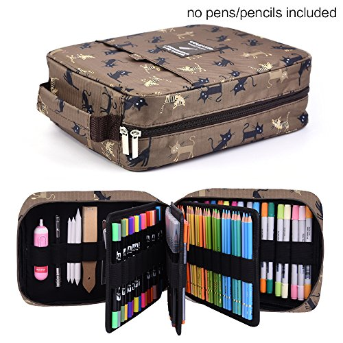 202 Colored Pencils Pencil Case / 136 color gel pens Pen Bag