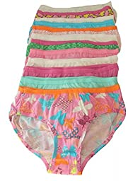 Hanes girls No Ride Up Cotton TAGLESS Hipsters 9-Pack(HPP9AS)-Assorted-6-2PK