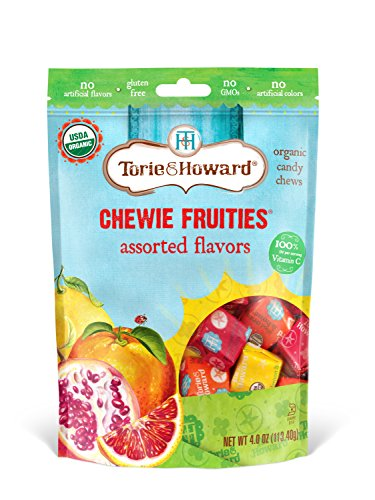 (Torie & Howard Chewie Fruities Organic Candy Assorted Flavors, 4 Ounce Bag )