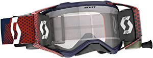 Scott Prospect Adult Off-Road Motorcycle Goggles - Red/Blue/Clear/One Size