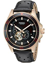 Fossil Mens ME3091 Analog Display Automatic Self Wind Black Watch