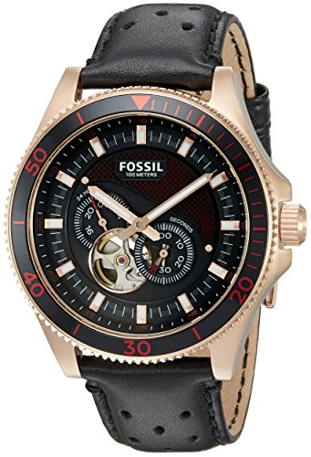 Fossil Men's ME3091 Analog Display Automatic Self Wind Black Watch
