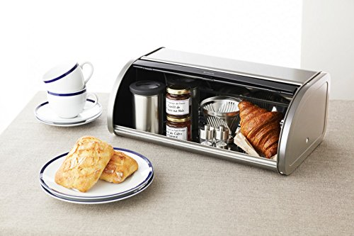 Brabantia Roll Top Bread Box, Brilliant Steel