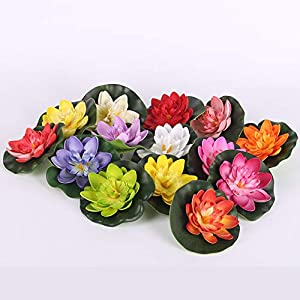 Adarl Artificial Flower Artificial Lotus Flower Silk Floral for Home Office Decor Party Festival Weeding Decoration 3