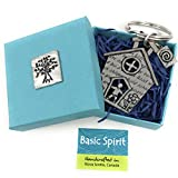 Basic Spirit Teacher Appreciation School House Classroom Student Gift Lead Free Pewter Key Ring
