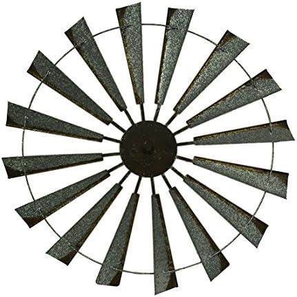 36 Metal Wind Mill Wall Decor