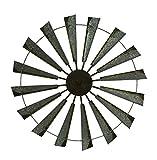 36'' Metal Wind Mill Wall Decor