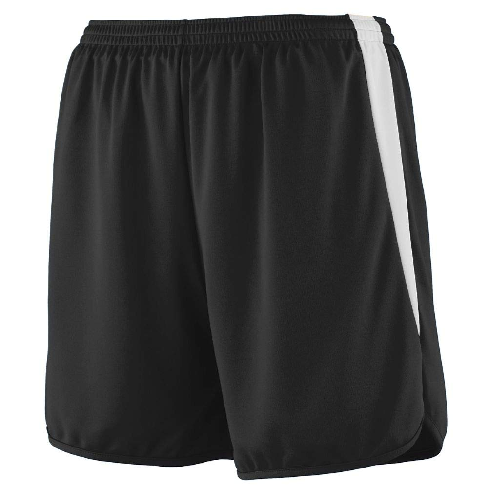 Augusta Sportswear Augusta Youth Rapidpace Track Short, Black/White, Medium by Augusta Sportswear