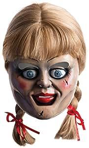 Máscara y peluca de Annabelle para adulto, complemento de disfraz Halloween (Rubie's 36561)