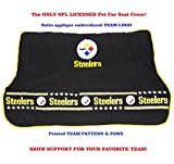 Pets First NFL CAR SEAT Cover - Pittsburgh Steelers Waterproof, Non-Slip Best Football Licensed PET SEAT Cover for Dogs
