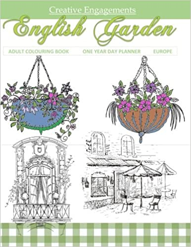 Amazon English Garden Adult Colouring Book One Year Day Planner Europe Books In Al Colour Boo