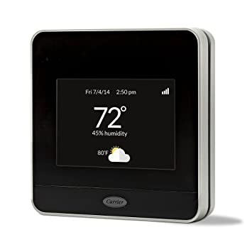 carrier digital thermostat. carrier cor 7-day programmable wi-fi thermostat with energy reports model 21026670 digital m