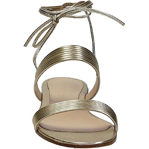 Gianvito Rossi planos sandalias en cuero suave de oro - Número de modelo: G03471 05CUO NPSMEKO SALINA Oro