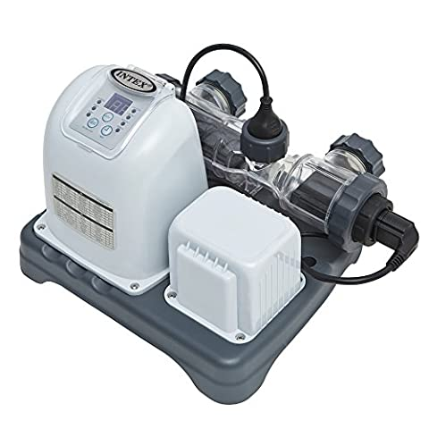 Intex Krystal Clear Saltwater System with E.C.O. (Electrocatalytic Oxidation) for up to 15000-Gallon Above Ground Pools, 110-120V with - Intex Swimming Pool Filter