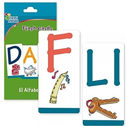 Amazon.com: Ivanna & Pau- FLASH CARDS ALFABETO 28 CARTAS ...