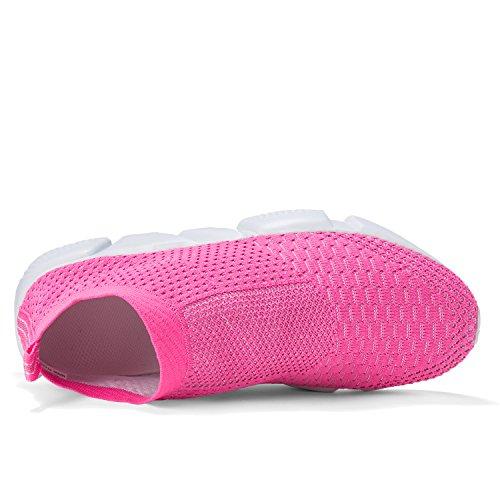 Laufende leichte Breathable beiläufige Sportschuhe der Frauen arbeiten Art- und Weiseturnschuh-wandernde Schuhe um Rosa