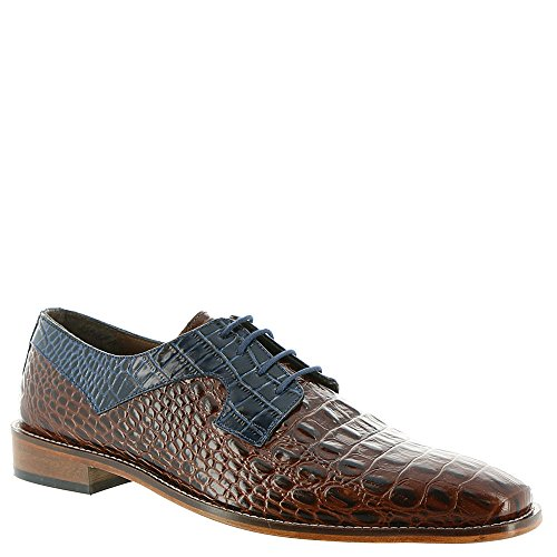 Stacy Adams Mens Garelli Oxford Cognac Multi