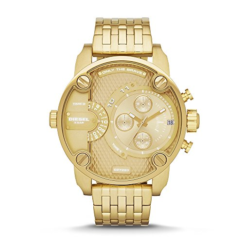 Diesel Chronograph Watch (Diesel Men's Little Daddy Quartz Stainless Steel Chronograph Watch, Color: Gold-Tone (Model: DZ7287))