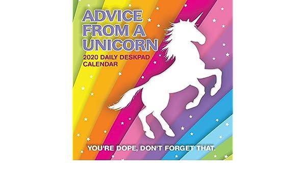 2020 Consejos de un unicornio Calendario de escritorio, por ...