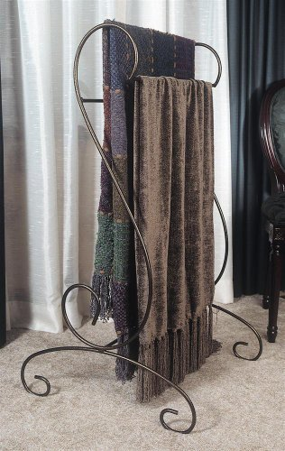 J&J Wire Quilt/Blanket Holder, Bronze (Metal Quilt Rack)