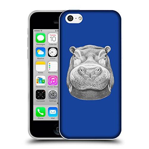 GoGoMobile Coque de Protection TPU Silicone Case pour // Q05270613 hippopotame 2 Bleu // Apple iPhone 5C
