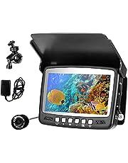 BITOWAT Undervattensfiskekamera bärbar fiskfinnare kamera 15 m kabel, 1 000 TVL högupplöst kamera/vattentät/köldbeständig/kompressionsbeständig