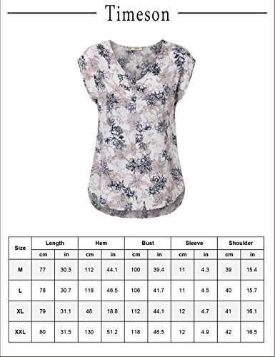Timeson-Womens-Chiffon-V-Neck-Cap-Sleeve-Floral-Printed-Summer-Blouse
