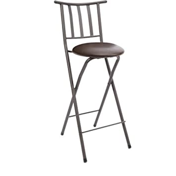 Groovy Home Furniture Sitting Bar Stool Bronze 30 Empress Metal Ladder Back Chair Microfiber Cushion Folding Feature Padded Seat Cushion 1 Espresso Ncnpc Chair Design For Home Ncnpcorg