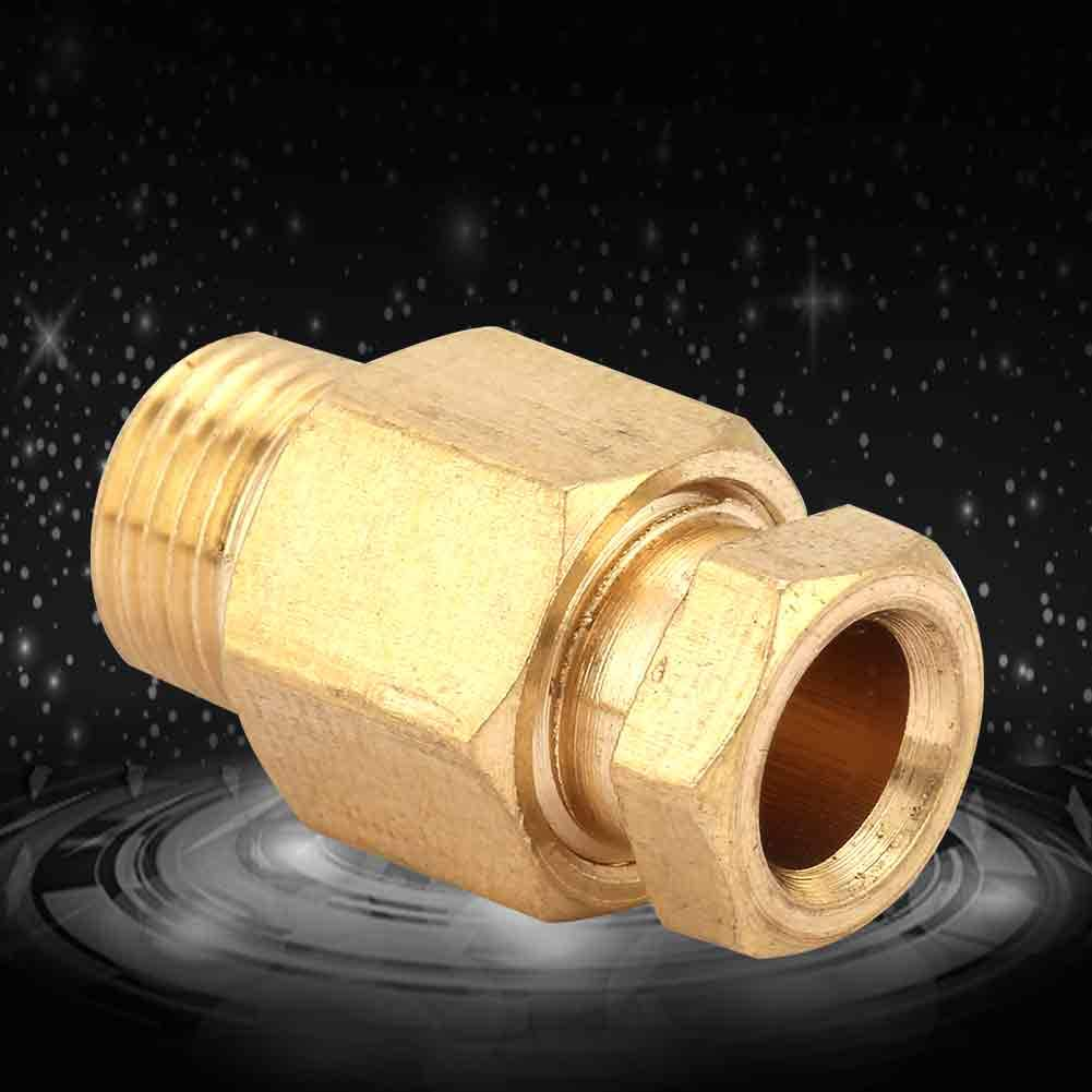 PD618(G1//8/Φ6) 5pcs Premium Brass Reducing Compression Tube Pipe Fitting NPT Adapter Oil Pipe Connector