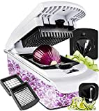 Fullstar Cutter-Veggie Spiralizer Slicer Onion Vegetable Pro-Food Choppers and Dicers, 1 pc Black white: more info