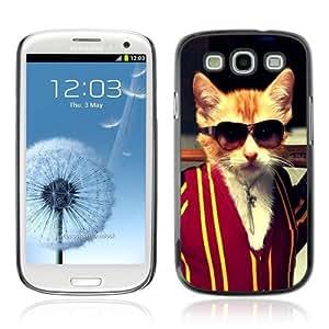 YOYOSHOP [Funny Badass Kitty Cat] Samsung Galaxy S3 Case