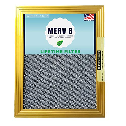 (16x25x1 CARTER | MERV 8 | Lifetime HVAC & Furnace Air Filter | Washable Electrostatic | High Dust Holding Capacity | Never buy another filter)