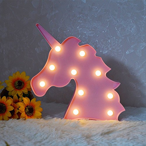Unicorn LED Night Lamp Decorative Marquee Signs Battery Oper