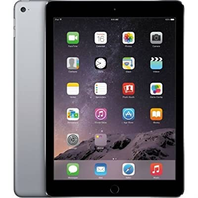 Image of Apple iPad Air 2, 16 GB, Space Gray, Newest Version (Renewed) Tablets