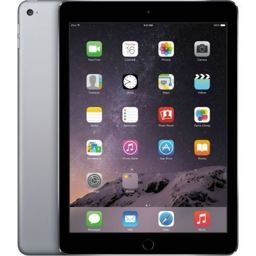 Apple iPad Air 2, 16 GB, Space Gray, Newest Version (Renewed) (Apple Ipod Touch 5th Gen 32gb Space Grey)