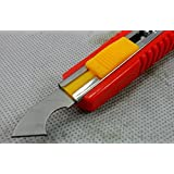 De-Lite Acrylic Plastic Fiber Sheets Cutter Hook Knife Blade (Random Color) With 2 Extra Blades Inside.