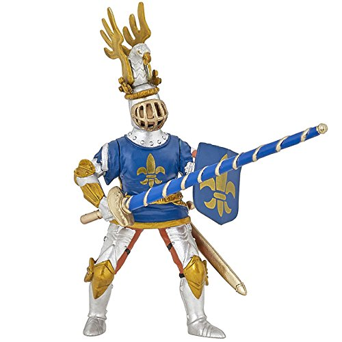 Papo Blue Fleur De LYS Knight Figure, Multicolor