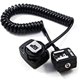Viltrox OC-E3 E-TTL Off Camera Shoe Cord with Safe Lock for Canon DSLR Camera Flash 150cm