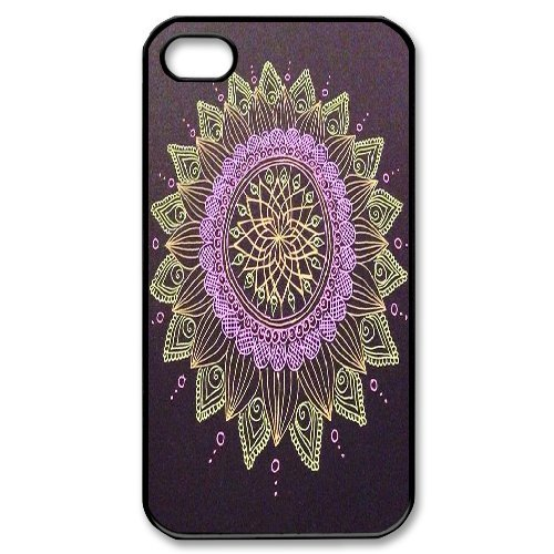 Andy iPhone 4,4s Case,Personalized Custom Abstract Mandara ,Unique Design Protective TPU Hard Phone Case Cover
