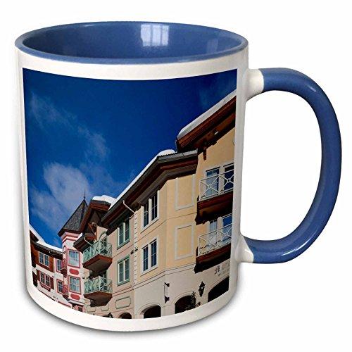 3dRose Danita Delimont - Lodges - British Columbia, Sun Peaks Resort, ski lodges - CN02 WBI0289 - Walter Bibikow - 15oz Two-Tone Blue Mug (mug_135217_11)