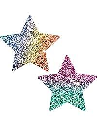 Neva Nude Super Sparkle Rock Kandi Glitter Star Nipztix Pasties Nipple Covers
