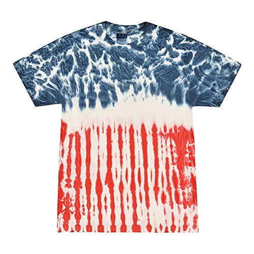 Colortone Tie Dye T-Shirt 2X Flag ()